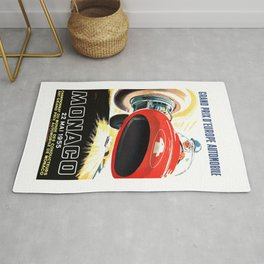 1955 Monaco Grand Prix Race Advertising Poster  Rug