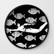 The joy of the fishes Wall Clock