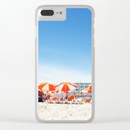 Cape May Umbrellas Clear iPhone Case