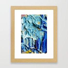 Blue Acrylic Oil Painting Framed Art Print
