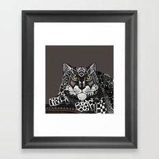 snow leopard lead Framed Art Print