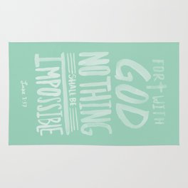Luke 1: 37 x Mint Rug