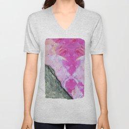 Brush Strokes / Oil Pink Unisex V-Neck
