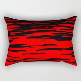 Black red abstract wave Rectangular Pillow