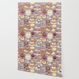 Patisserie Cakes and Good Things Wallpaper