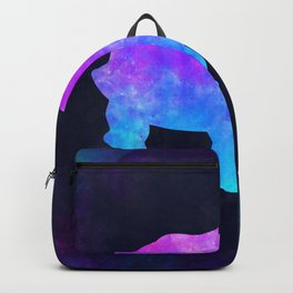 TORTOISE IN SPACE // Animal Graphic Art // Watercolor Canvas Painting // Modern Minimal Cute Backpack