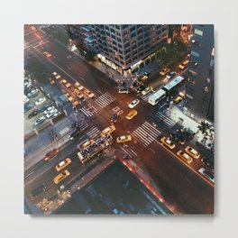 Taxi Central Metal Print