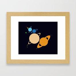 Solar System Unicorn Framed Art Print