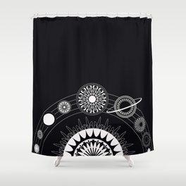 Mandala Solar System Shower Curtain
