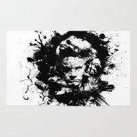 beethoven Area & Throw Rugs featuring Ludwig van Beethoven by viva la revolucion
