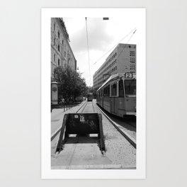 Budapest's Trams Art Print