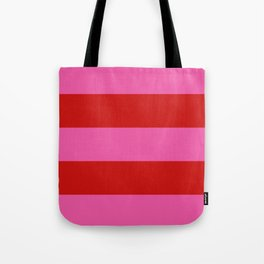 Valentines Day Wide Horizontal Stripes #1 Tote Bag