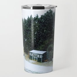Snowstorm in the winter Travel Mug