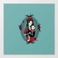 Skeleton Mother & Child - Dia de los Muertos Canvas Print