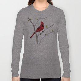 Geometric Cardinal Long Sleeve T-shirt