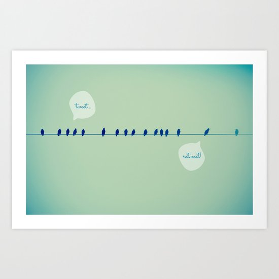 Tweeting Art Print