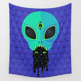Alien Flu Wall Tapestry