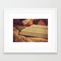 bible Framed Art Prints featuring Bible by KimberosePhotography