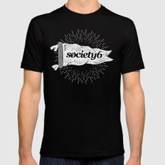 Society6 Banner Mens Fitted Tee X-LARGE Black