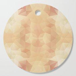 Mozaic design in pastel beige colors Cutting Board