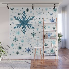 Frosty Abstract Wall Mural