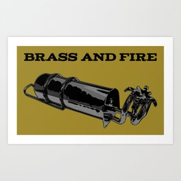 Brass and Fire Pressure Stove Art Print