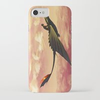 hiccup iPhone & iPod Cases featuring Flying - Hiccup and Toothless by BBANDITT