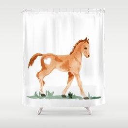 I heart baby horses Shower Curtain