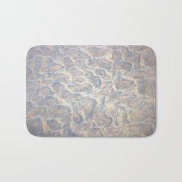 Silver Ocean Floor Painting Bath Mat