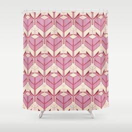 Origami Heart Shower Curtain