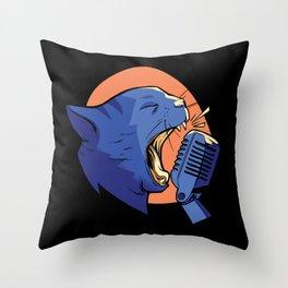 Singing Cat design Throw Pillow