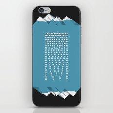 NZ Ski Fields iPhone & iPod Skin