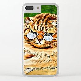 ORANGE TABBY CAT - Louis Wain's Cats Clear iPhone Case