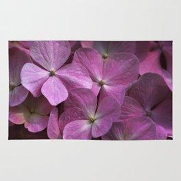 Pink hydrangea Rug