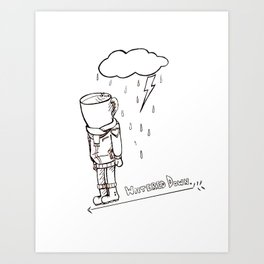 Coffee Bloke Art Print