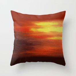The Relenting Sun Throw Pillow