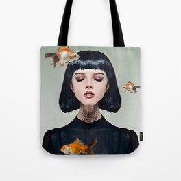 Goldfish Dreaming Tote Bag