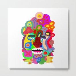 Acid Face Metal Print