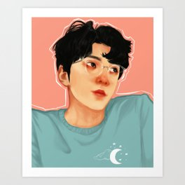 peachy sehun Art Print