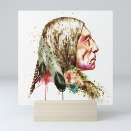 Native American Side Face Mini Art Print