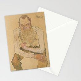 Oskar Kokoschka (1886-1990) - Sitting Bearded Man - Sitzender bärtiger Mann - Egon Schiele style Stationery Cards