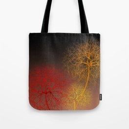 3 fancy trees Tote Bag