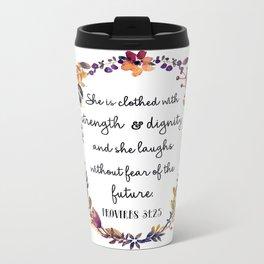 Christian quote Metal Travel Mug