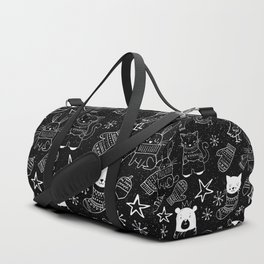 Merry Christmas - Simple X-mas Fun Doodle - Mix and Match with Simplicity of Life Duffle Bag