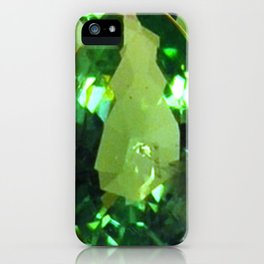 LIME GREEN PERIDOT GEMS AUGUST BIRTHSTONES iPhone Case