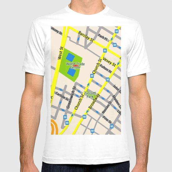 NEW YORK map design T-shirt