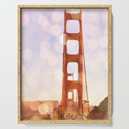 GOLDEN GATE BRIDGE - ABSTRACT Serving Tray