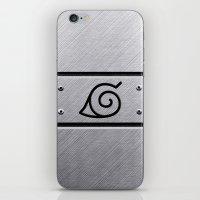 naruto iPhone & iPod Skins featuring Naruto Headband by Kesen