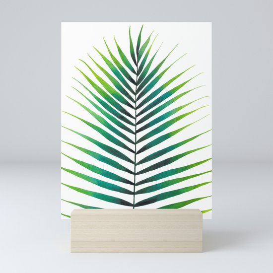 Tropical Palm Leaf #1 | Watercolor Painting by ccartstudio