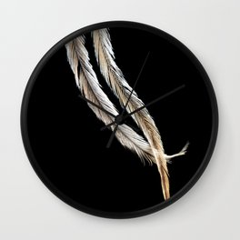 Ostrich Feathers Wall Clock
